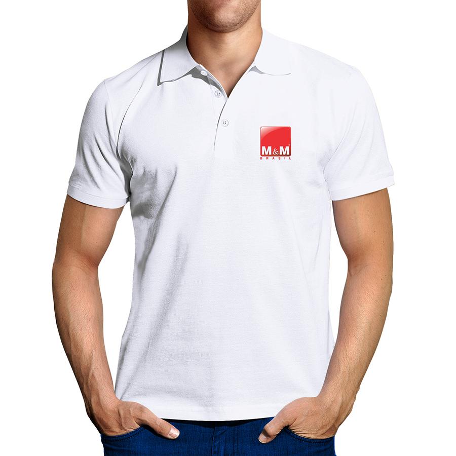 Camisa Pólo Piquet Branco