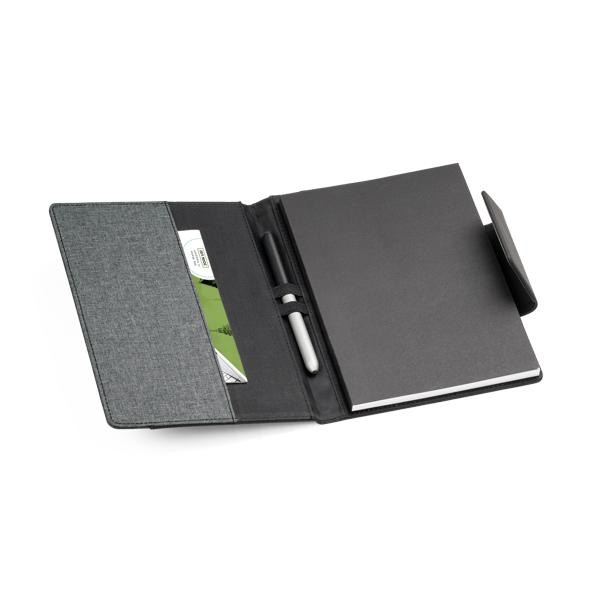 Caderneta em Couro Com Pauta   15,5 x 21,5 cm