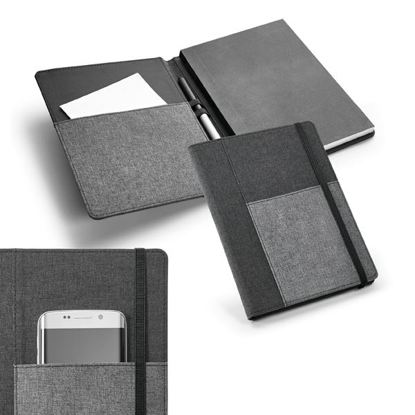 Caderno com Porta Objetos