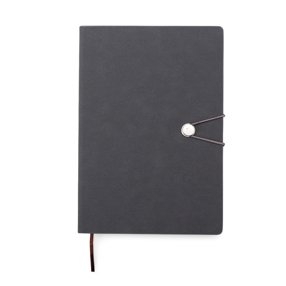 Caderneta Tipo Moleskine com Fecho | 21 x 14,8 x 2,2 cm