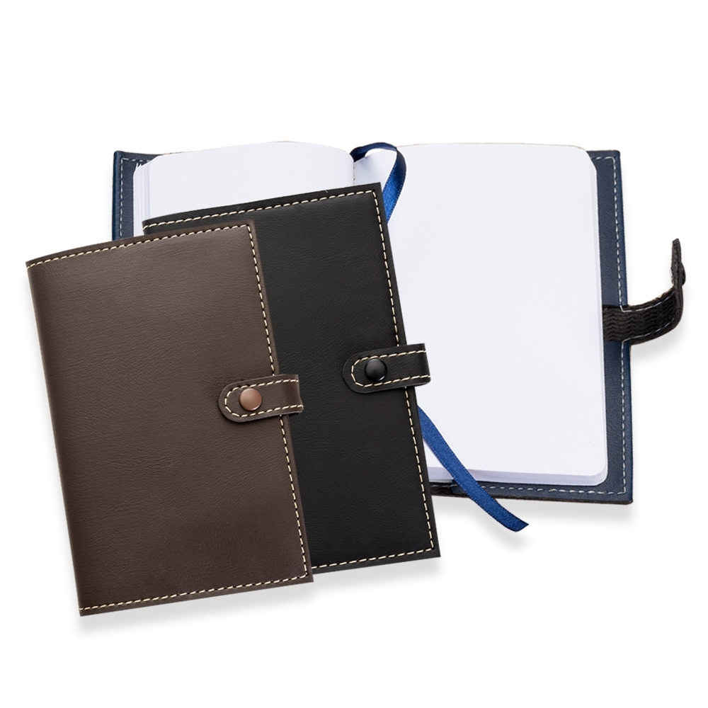 Caderneta em Couro Sintético