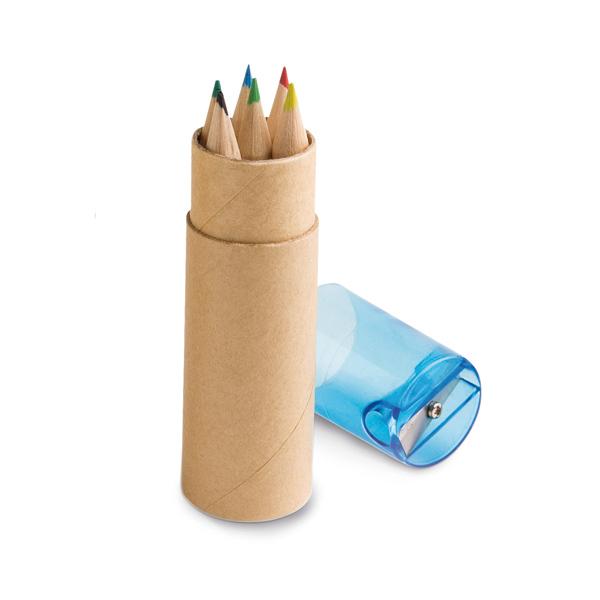 Caixa com 6 Lápis de Cor e Apontador