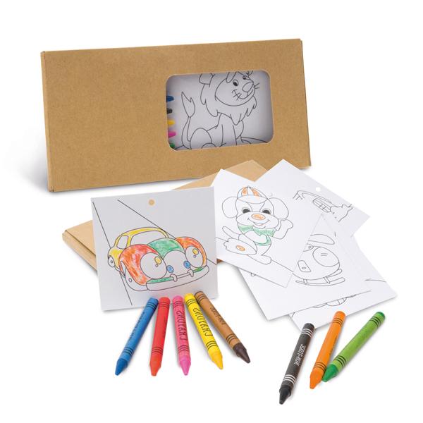 Kit para Colorir com Giz de Cera