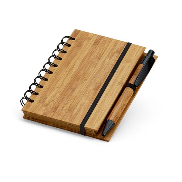 Caderno de Bambu   10,5 x 14,8 cm