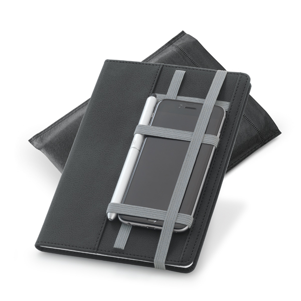 Caderno tipo Moleskine Sem Pauta | 15 x 21 cm
