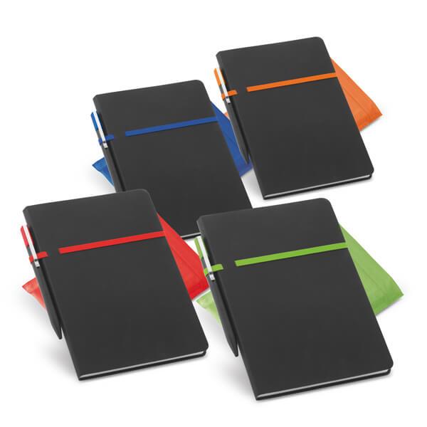 Caderno em Couro Com Caneta | 14 x 21 cm