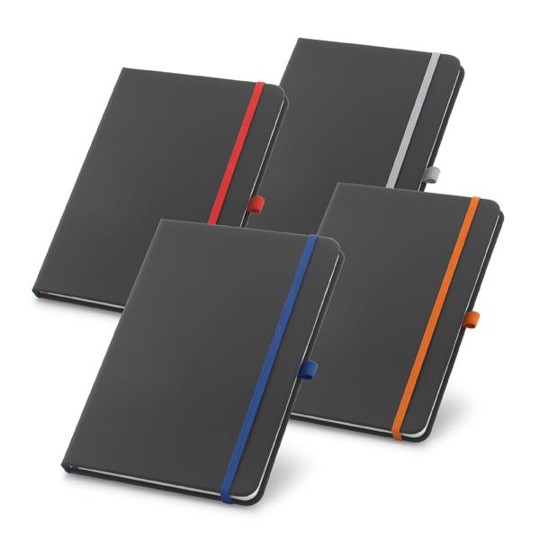 Caderno em Couro Com Pauta   9 x 14 cm