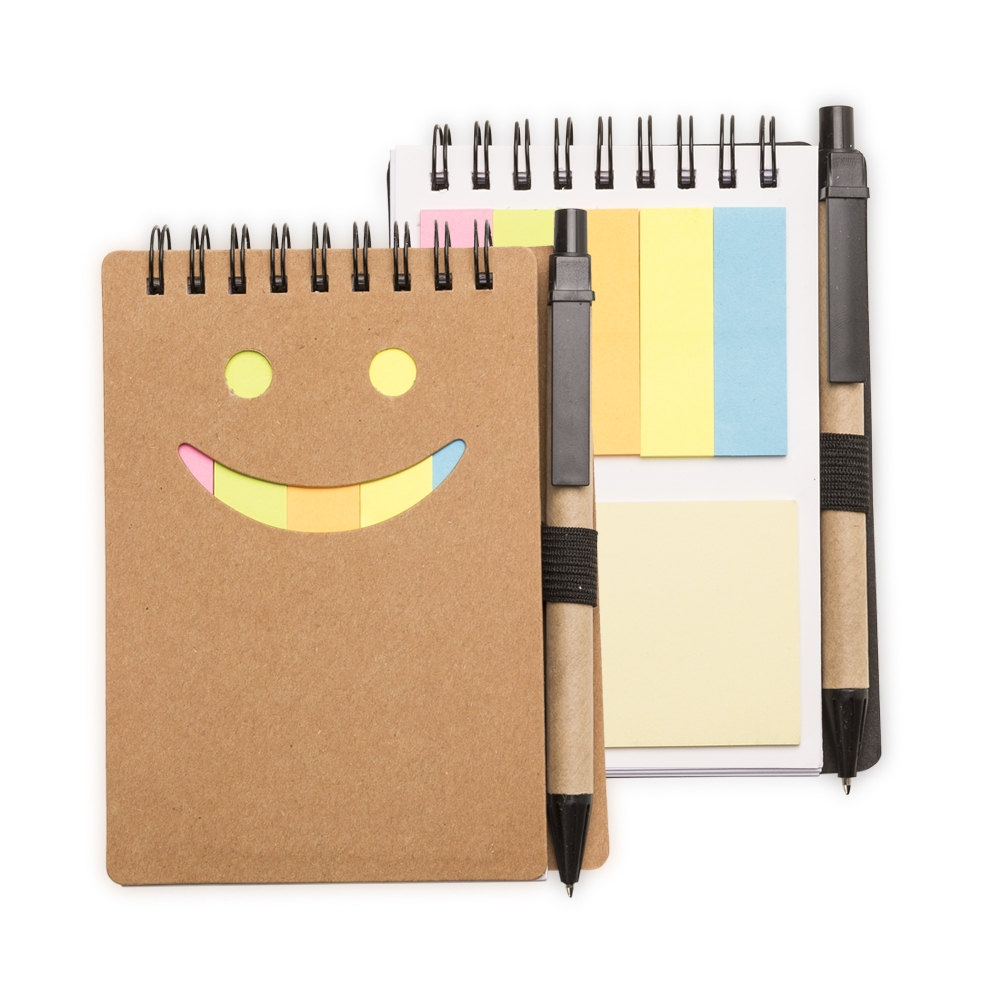 Caderneta de Anotações com Post-it e Caneta
