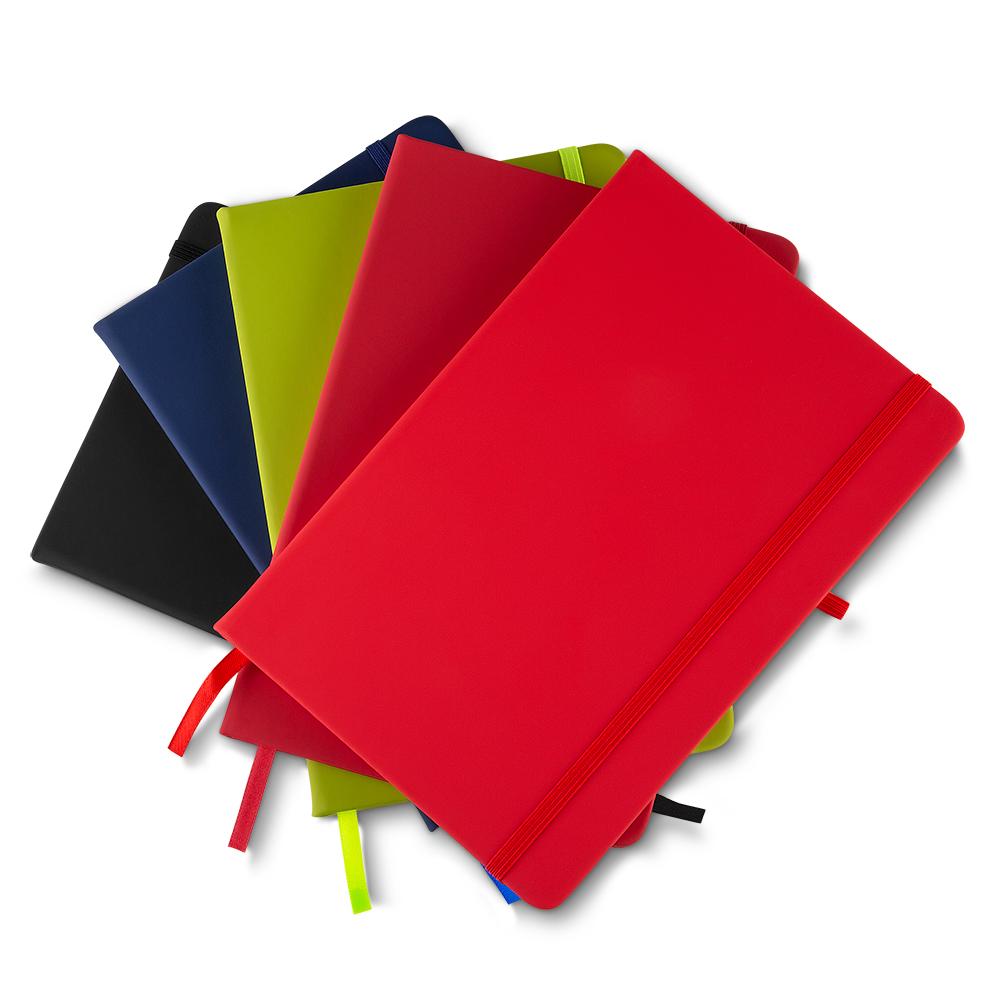 Caderneta em Couro Com Pauta   14 x 21 cm