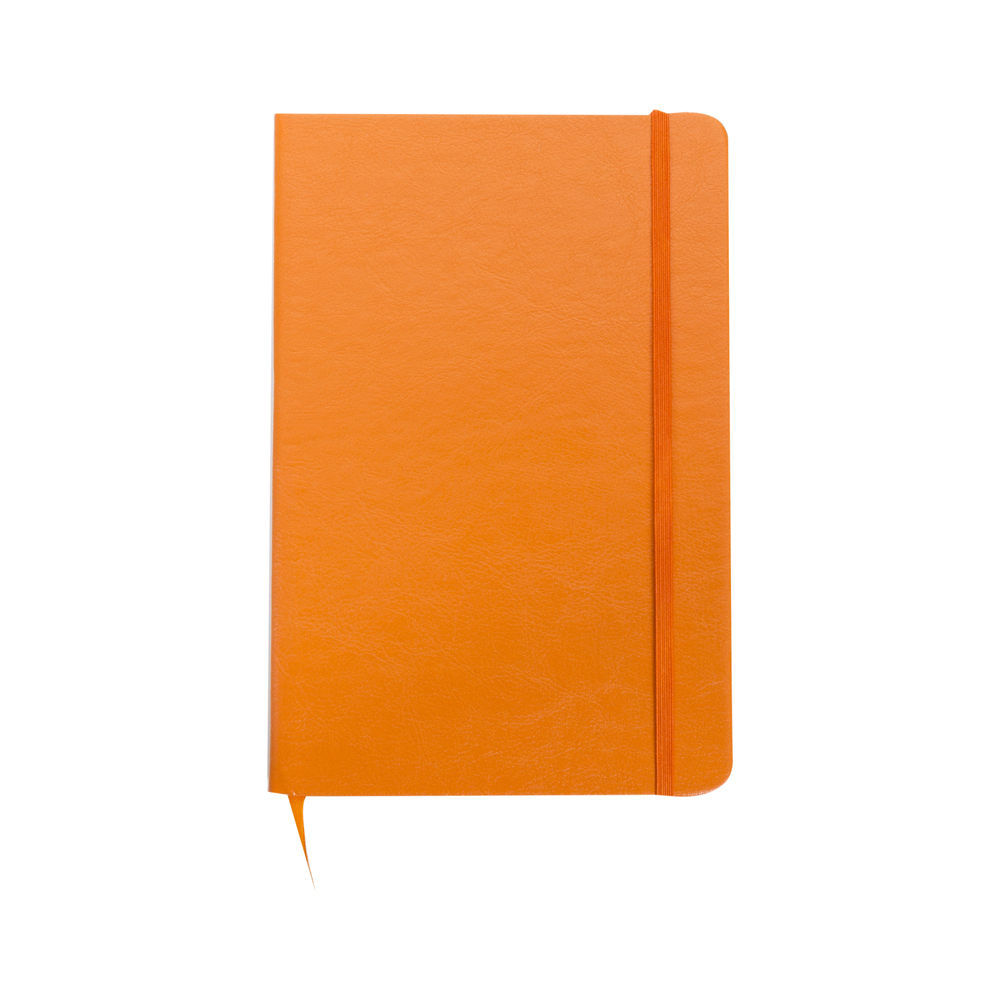 Caderneta em Couro Com Pauta | 14 x 21 cm