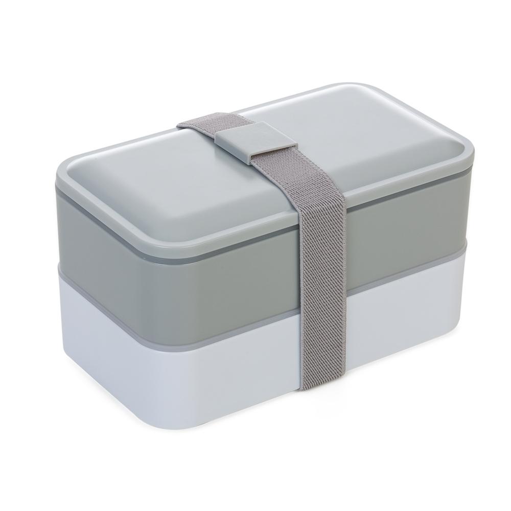 Marmita Plástica 2 Compartimentos e Talheres