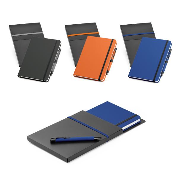 Caderno com Caneta