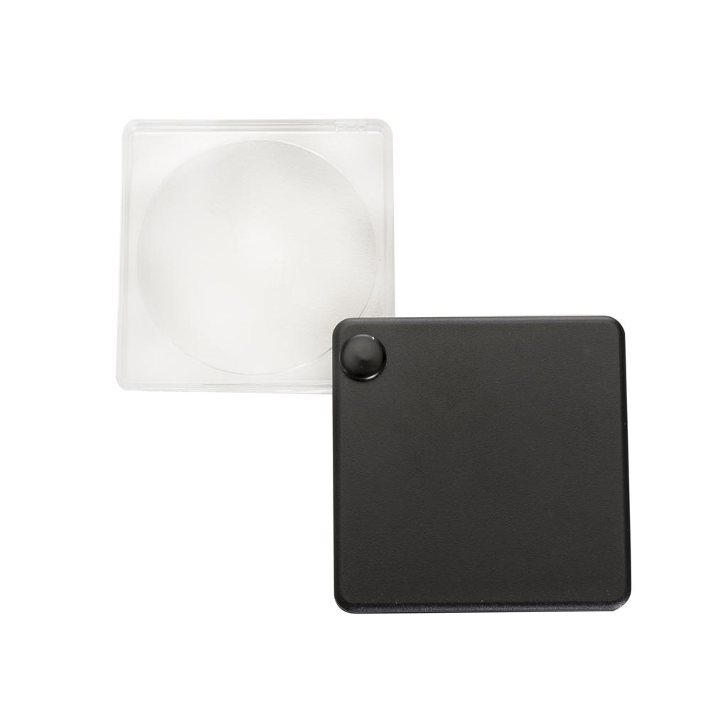 Lupa com capa plástica preto