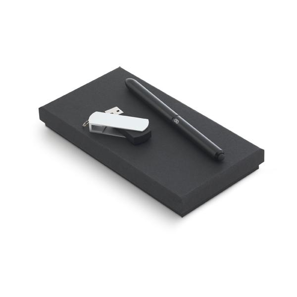 Kit Escritório Caneta e Pen Drive