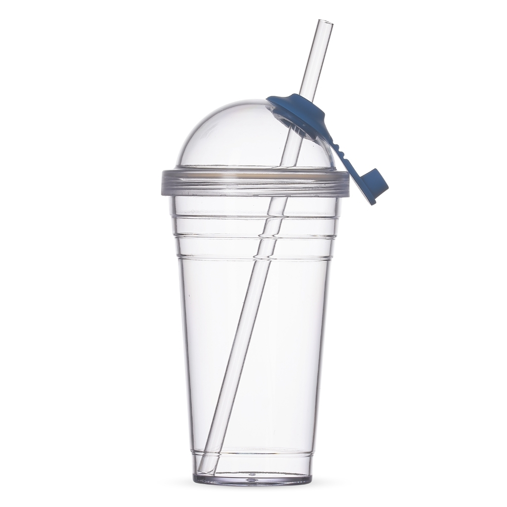 Copo Plástico com Canudo 480ml